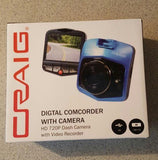 Craig Digital Camcorder with Camera - HD 720P Dash Camera w/ Video Recorder