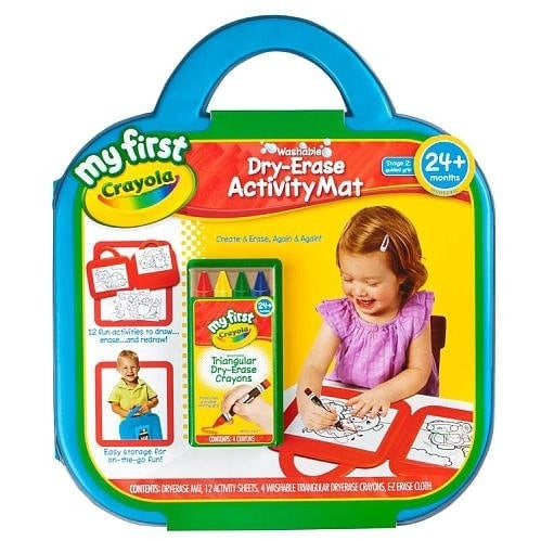 Crayola My First Washable Dry-Erase Activity Mat 2PC