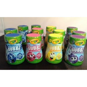 "12 Crayola Colored Outdoor Bubbles ""Bubbz"" 1.25Oz Ea.   Sealed 4 Colors"
