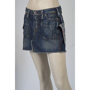 1921 Short Denim Womens Skirt Kcs Blue Size 24