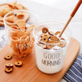 shopsharpe.com 6pcs Long Handled Wooden Spoons Wood Tea Coffee Spoon Japanese Style Dessert Spoon Honey Mixing Spoon Kitchen Wooden Tableware