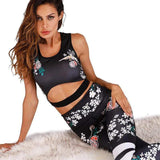 shopsharpe.com Activewear Flora 2 Piece Printed Activewear Set