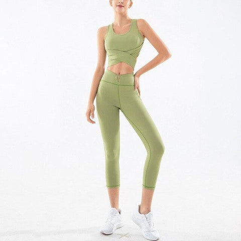 shopsharpe.com Activewear Fruit green / L Radiance Yoga Bottoms & Sleeveless Top Set