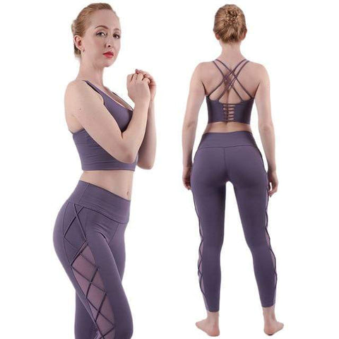 shopsharpe.com Activewear purple / Asian size M Agile Breathable Mesh Activewear Set
