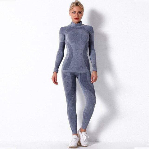shopsharpe.com Activewear Steel Grey / S / China Oasis High Waist Seamless Activewear Set