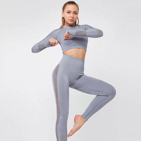 shopsharpe.com Activewear Women Yoga Crop Top Seamless Leggings Yoga Set Yoga Pants Gym Set High Waist Legging Pants Sport Clothing Fitness Shirt