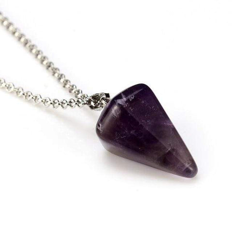 shopsharpe.com amethyst Healr Original Chakra Natural Stone Triangle Pendant Necklace