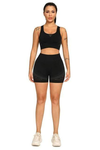 shopsharpe.com Black / M / China Arena Seamless Yoga Short & Top Set