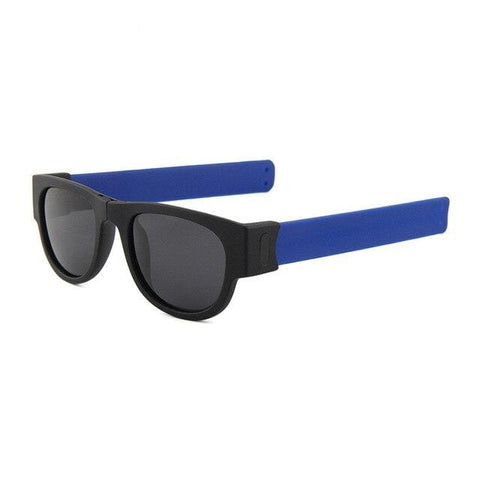 shopsharpe.com Blue SlapShade Viva Polarized Folding Sunglasses