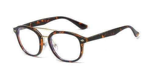shopsharpe.com C5 leopard 45822 TR90 Anti-blue Light Rice Nail Glasses Frames Men Women Optical Fashion Computer Glasses