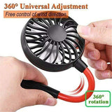 shopsharpe.com InstaFan Handsfree Mini Fan - Portable & Rechargeable