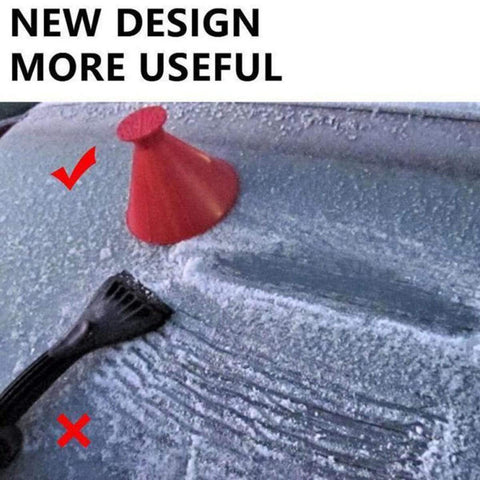 shopsharpe.com InstaScrape Ergonomic Funnel Shaped Car Ice Scraper