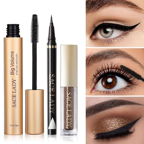 shopsharpe.com Professional Waterproof Eye Makeup 3 Piece Set