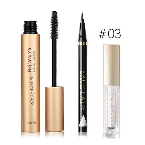 shopsharpe.com SET 03 Professional Waterproof Eye Makeup 3 Piece Set