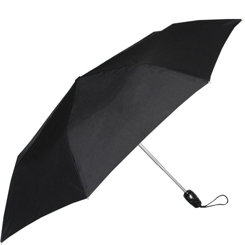 John's 545mm Auto Open and Close 3 Fold Black Umbrella