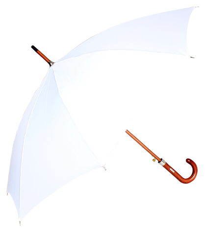 John's  Woodking  Auto Open  Straight Fold Mono Colour Umbrella-610 mm