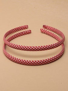 Gingham Narrow Aliceband