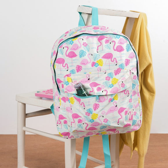 Flamingo Large Cotton Backpack