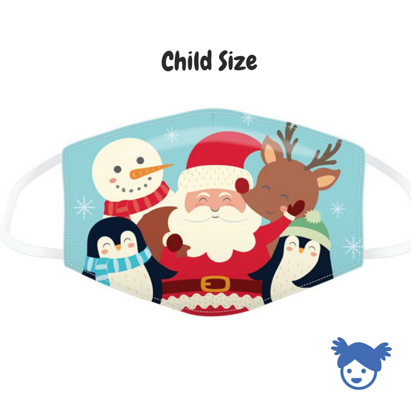 Child size Christmas Character Face Cover