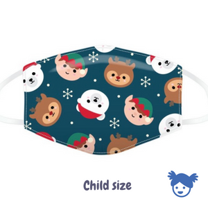 Child Size Cute Christmas Face Cover