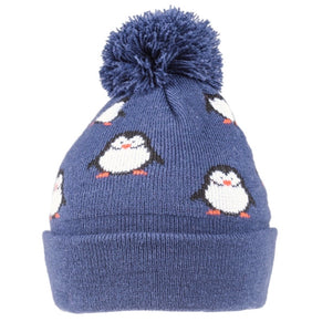 Penguin Winter Hat in Blue