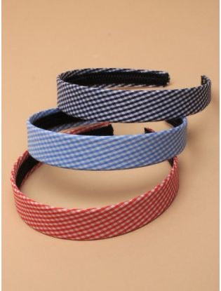 Wide Gingham Aliceband