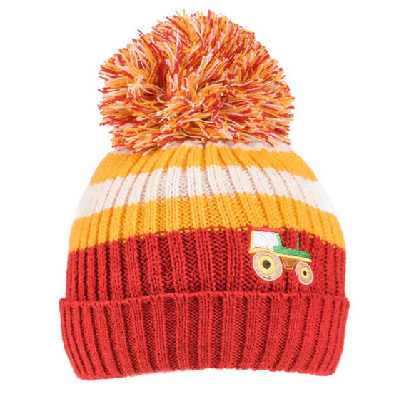 Tractor Knitted Bobble Hat