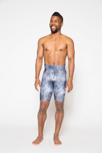 Men's patterned yoga shorts