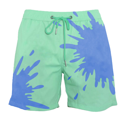 drippy™ Green-Blue Color-Changing Swim Trunks