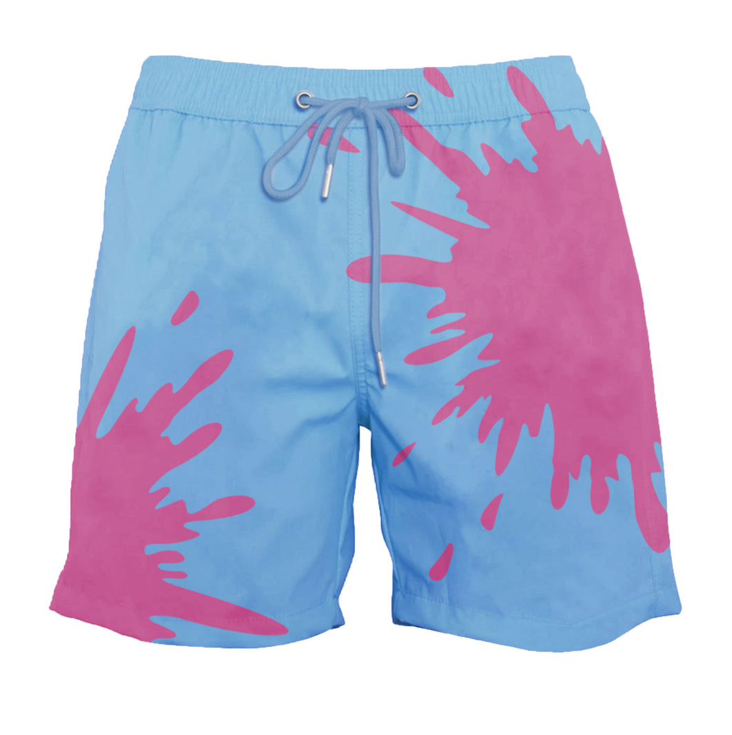 drippy™ Blue-Purple Color-Changing Swim Trunks