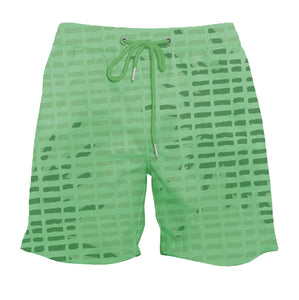 drippy™ Artist Print Green Color-Changing Swim Trunks
