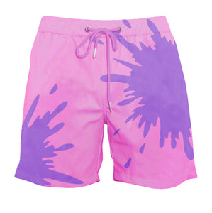 drippy™ Pink-Purple Color-Changing Swim Trunks