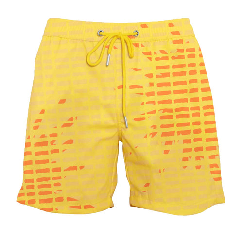 drippy™ Artist Print Orange Color-Changing Swim Trunks