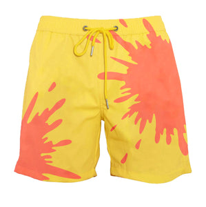 drippy™ Orange-Yellow Color-Changing Swim Trunks