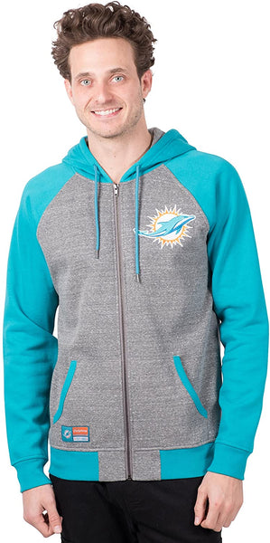 NFL Miami Dolphins Men's Full Zip Hoodie|Miami Dolphins