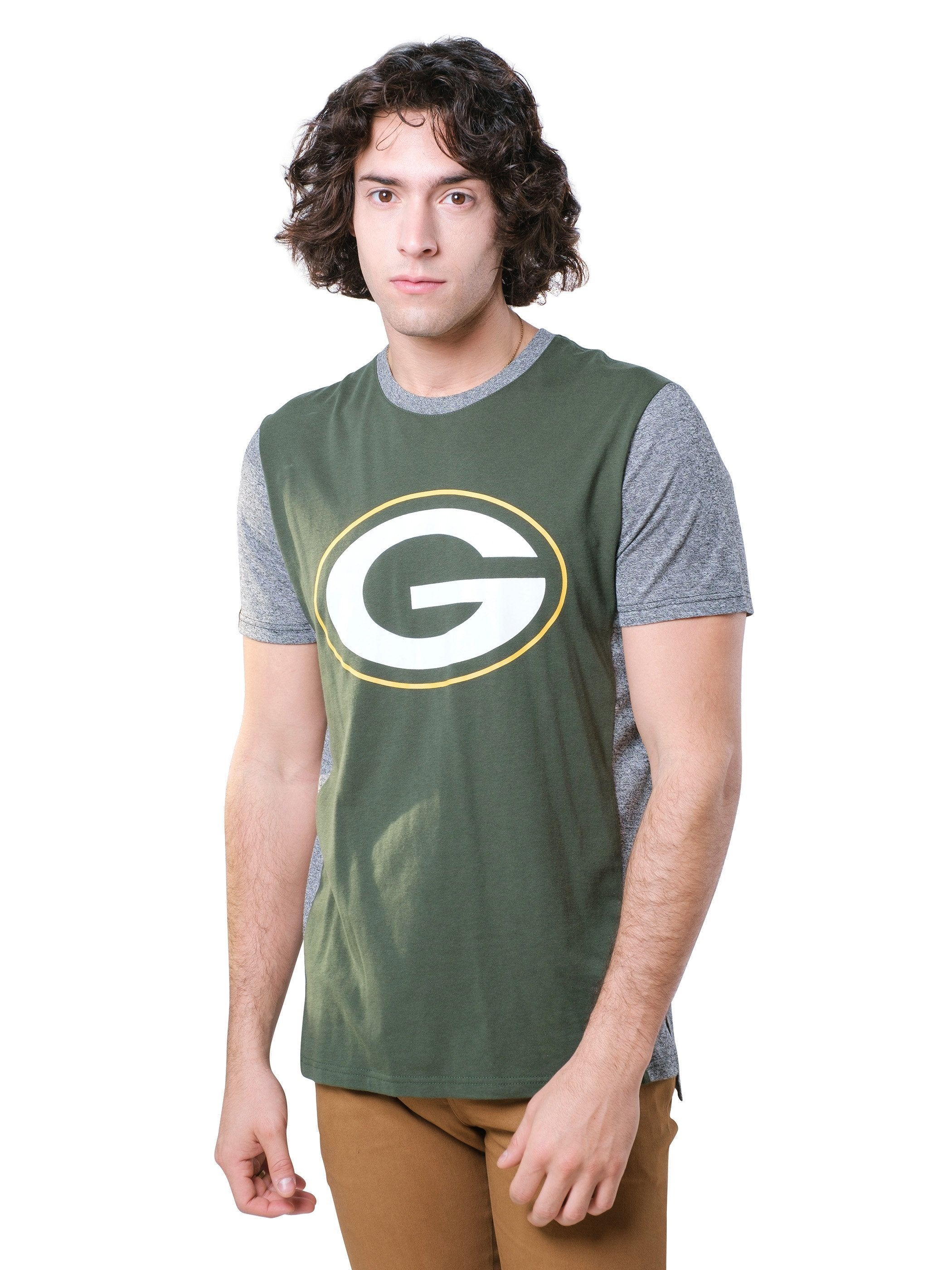 NFL Green Bay Packers Men's Raglan Short Sleeve Tee|Green Bay Packers