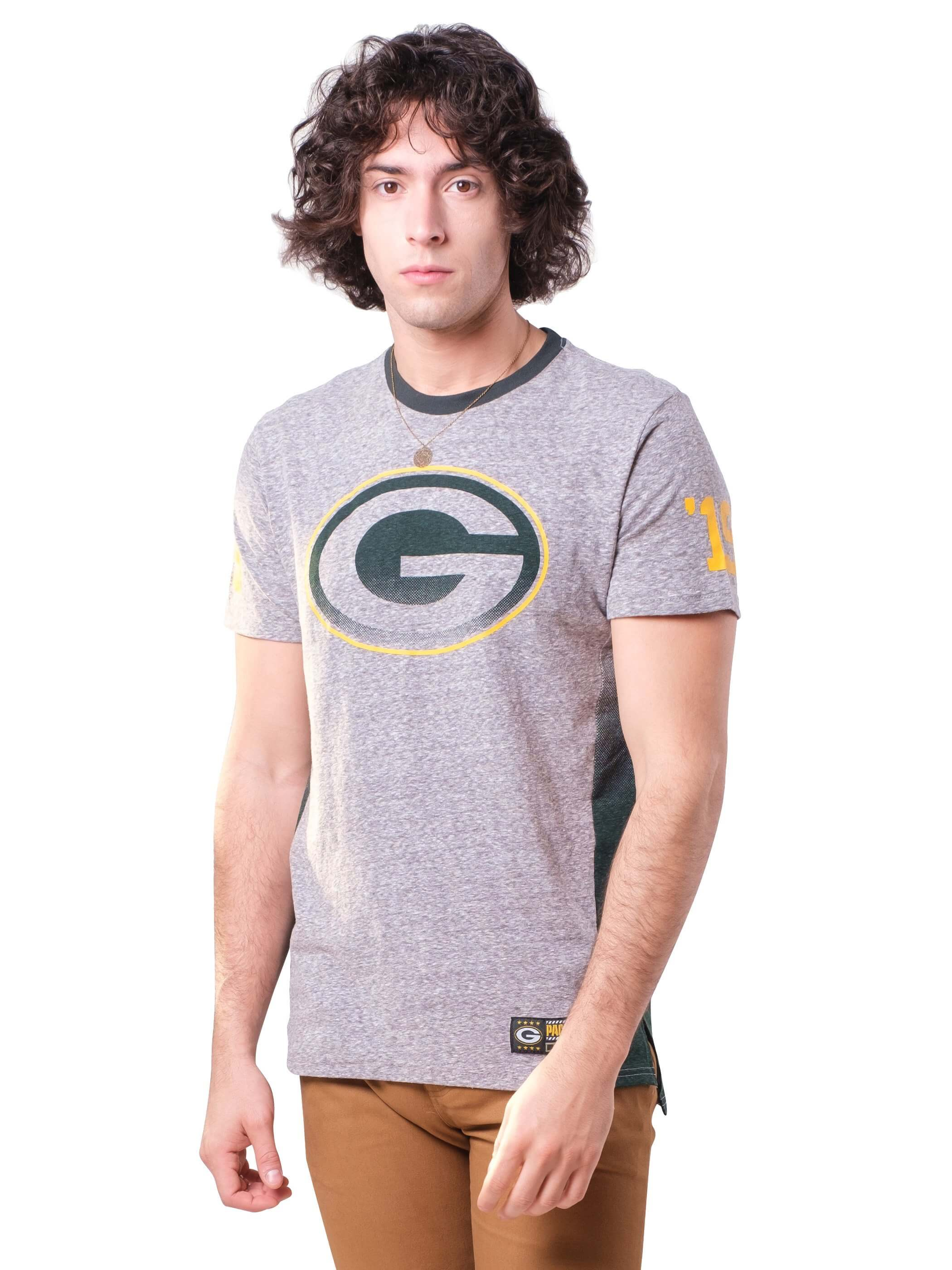 NFL Green Bay Packers Men's Vintage Ringer Short Sleeve Tee|Green Bay Packers