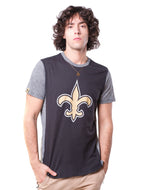 NFL New Orleans Saints Men's Raglan Short Sleeve Tee|New Orleans Saints