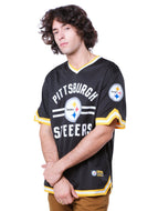 NFL Pittsburgh Steelers Men's Jersey Stripe V-Neck|Pittsburgh Steelers