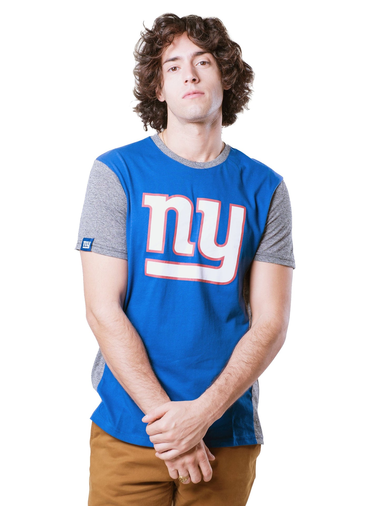 NFL New York Giants Men's Raglan Short Sleeve Tee|New York Giants