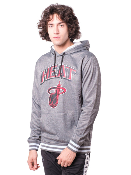 NBA Miami Heat Men's Fleece Hoodie Rib Stripe|Miami Heat