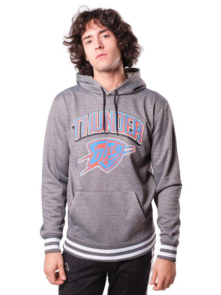 NBA Oklahoma City Thunder Men's Fleece Hoodie Rib Stripe|Oklahoma City Thunder