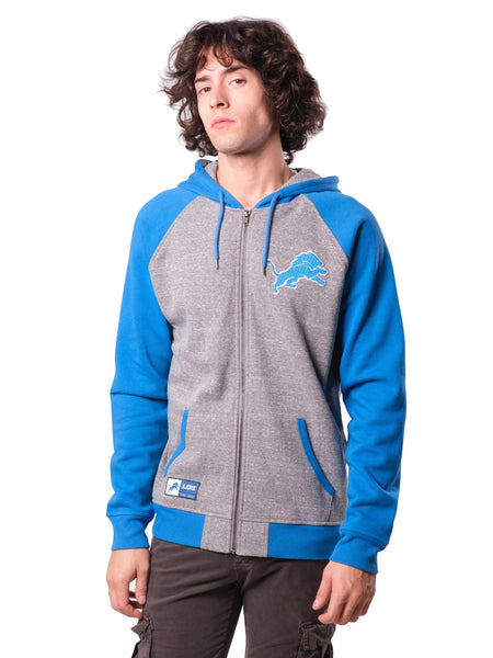 NFL Detroit Lions Men's Full Zip Hoodie|Detroit Lions