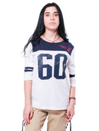 NFL New England Patriots Women's Vintage 3/4 Long Sleeve Tee|New England Patriots