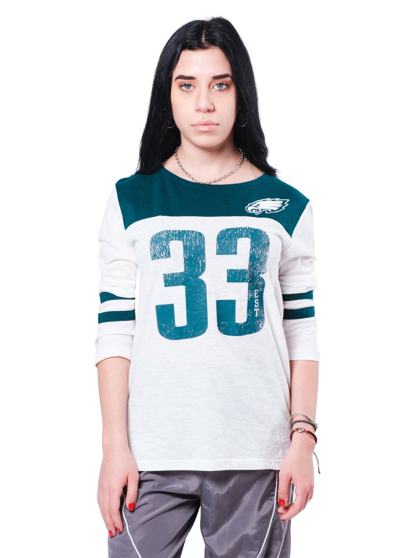 NFL Philadelphia Eagles Women's Vintage 3/4 Long Sleeve Tee|Philadelphia Eagles