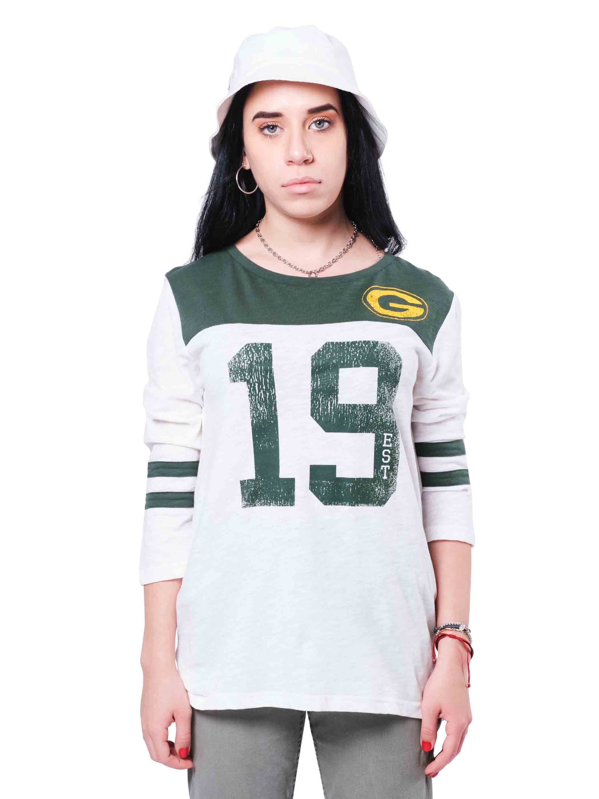 NFL Green Bay Packers Women's Vintage 3/4 Long Sleeve Tee|Green Bay Packers