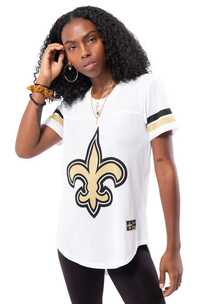 NFL New Orleans Saints Women's Varsity Stripe Tee|New Orleans Saints