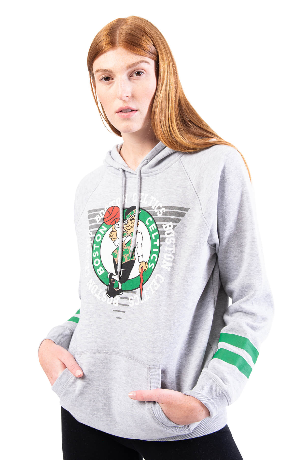 NBA Boston Celtics Women's Hoodie Varsity Stripe|Boston Celtics
