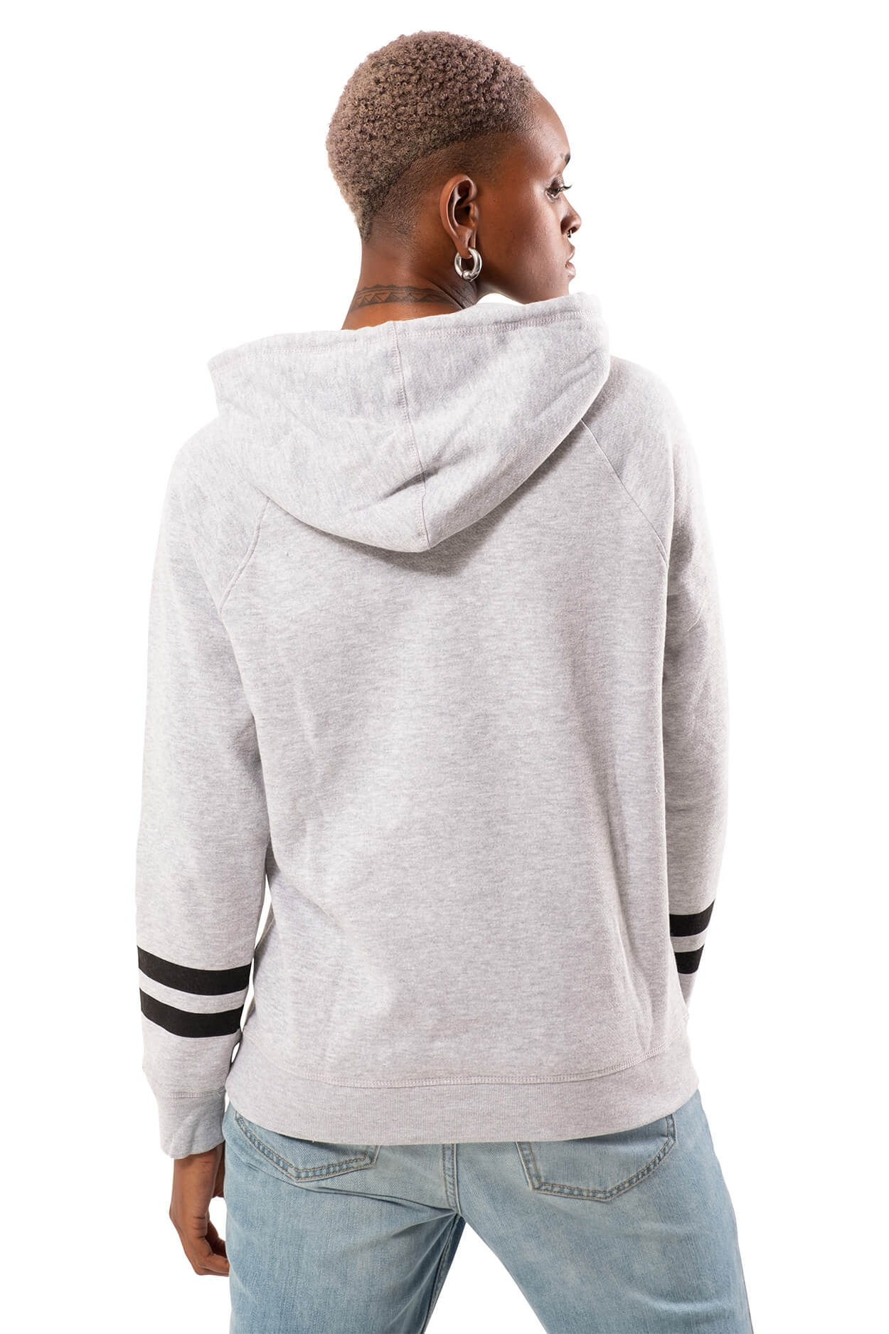 NBA Brooklyn Nets Women's Hoodie Varsity Stripe|Brooklyn Nets