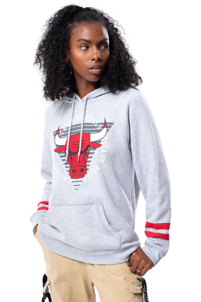 NBA Chicago Bulls Women's Hoodie Varsity Stripe|Chicago Bulls